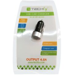 Caricatore da Auto 2p USB 5V con uscita 4,8A Nero