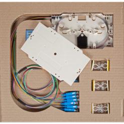 Cassetta di giunzione con 12 Pigtail SC monomodali OS2