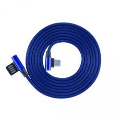 Cavo USB Angolato 90° USB A/USB-C 1.5m Blu