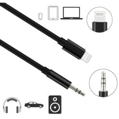 Cavo da Apple Lightning a Audio 3,5'' M 1m Nero