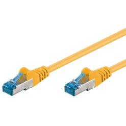 Cavo di rete Patch in rame Cat. 6A Giallo SFTP LSZH 0,5m
