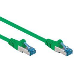 Cavo di rete Patch in rame Cat. 6A Verde SFTP LSZH 0,5m