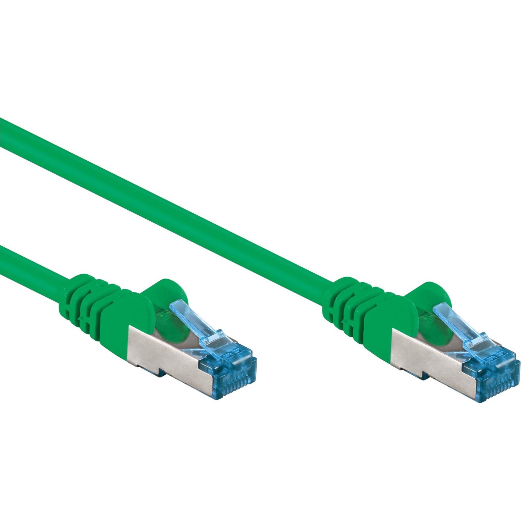 Cavo di rete Patch in rame Cat. 6A Verde SFTP LSZH 2m
