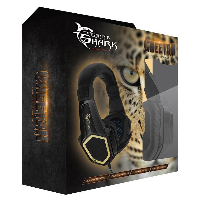 Cuffie Gaming con Microfono Cheetah Nero GHS-1642