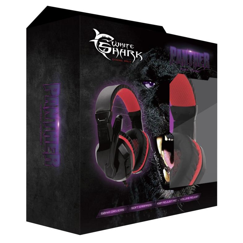 Cuffie Gaming con Microfono Panther Nero Rosso GHS-1641