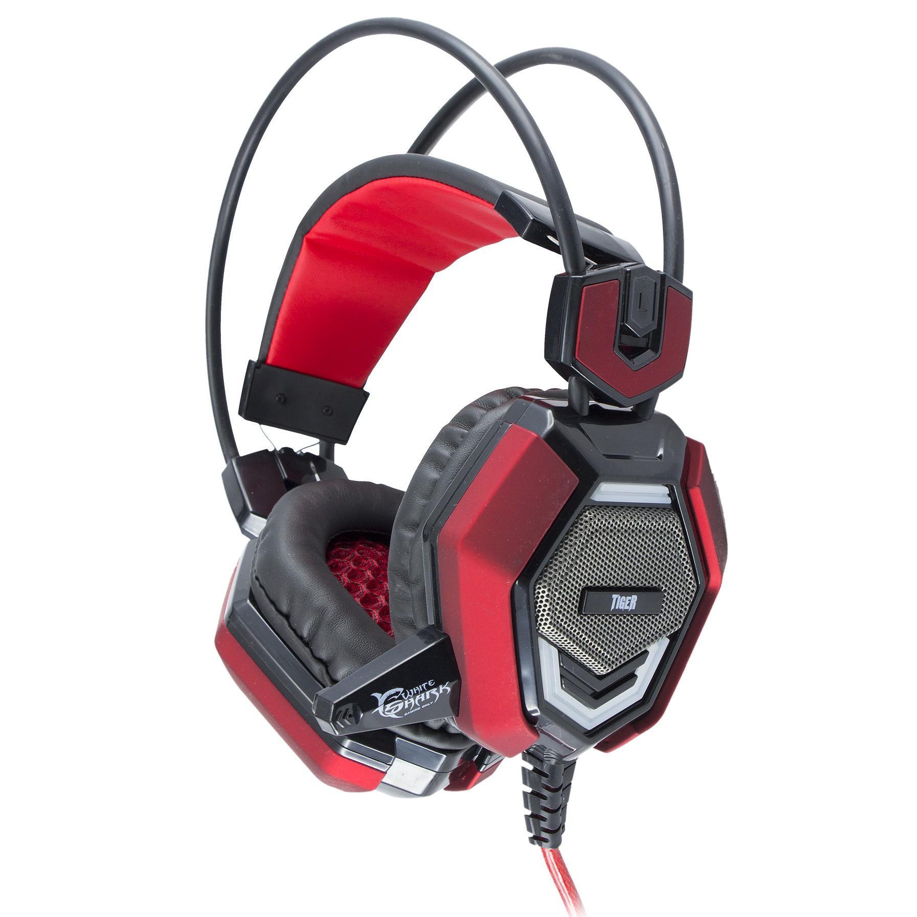 Cuffie Gaming con Microfono Tiger Nero Rosso GHS-1644