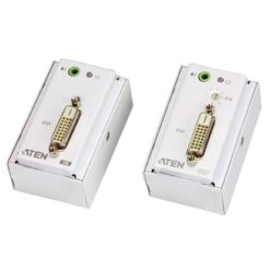 Estensore DVI/Audio Cat5 con piastra a parete 1920x1200 a 40m, VE607