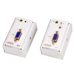 Estensore VGA/Audio Cat5 con piastra a parete 1280x1024 a 150m, VE157