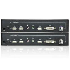 Extender KVM USB DVI 1920x1200 fibra 20km CE690