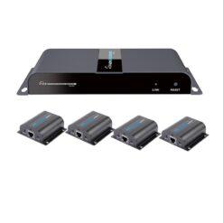 Extender Splitter HDMI 1x4 PoE con IR su Cavo Cat.6 fino 40m