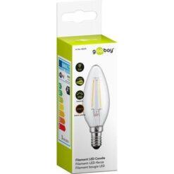 Lampada LED Candela E14 Bianco Caldo 2.8W Filamento A++