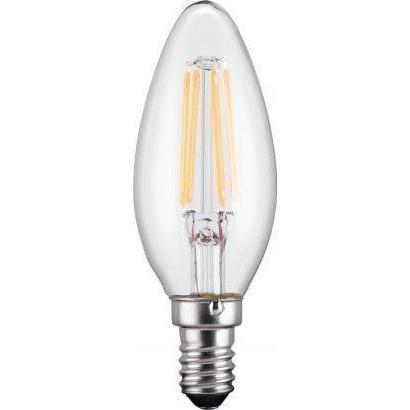 Lampada LED Candela E14 Bianco Caldo 4W Filamento A++