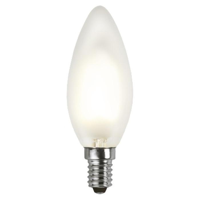 Lampada LED Candela Smerigliata E14 Bianco Caldo 2W Filamento A+