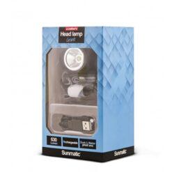 Lampada LED Frontale Ricaricabile 630 Lumen