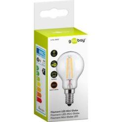 Lampada LED Mini Globo E14 Bianco Caldo 4W Filamento Classe A++