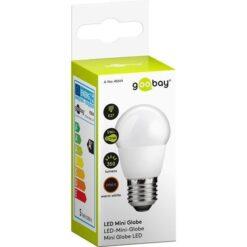 Lampada LED Mini Globo E27 Bianco Caldo 5W, Classe A+