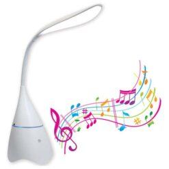 Lampada a LED da Tavolo Bluetooth con Speaker Integrato
