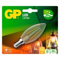 Lampadina LED E14 Bianco Caldo 2W Filamento Classe A++