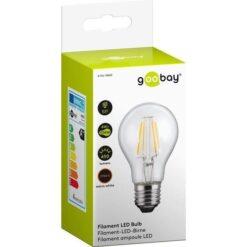 Lampadina LED E27 Bianco Caldo 4W con Filamento Classe A++