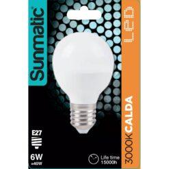 Lampadina LED E27 Bianco Caldo 6W 480lm Classe A+
