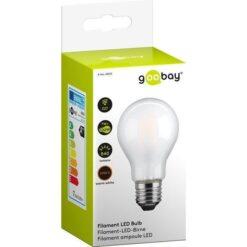 Lampadina LED E27 Bianco Caldo Satinato 7W con filamento Classe A++