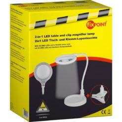 Lente di Ingrandimento 30 LED SMD 5W con Clip e Collo Flessibile, A+