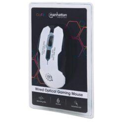Mouse Gaming USB 2400dpi 6 Tasti Bianco