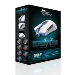 Mouse Gaming USB 4800dpi 6 Tasti Bianco Genghis Khan GM-1603W