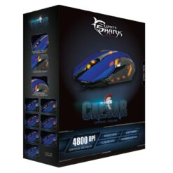 Mouse Gaming USB 4800dpi 6 Tasti Blu Caesar GM-1604BL
