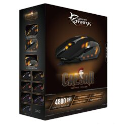 Mouse Gaming USB 4800dpi 6 Tasti Nero Caesar GM-1604B