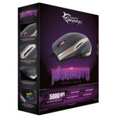 Mouse Gaming USB 5000dpi 9 Tasti Nero Argento Miyamoto