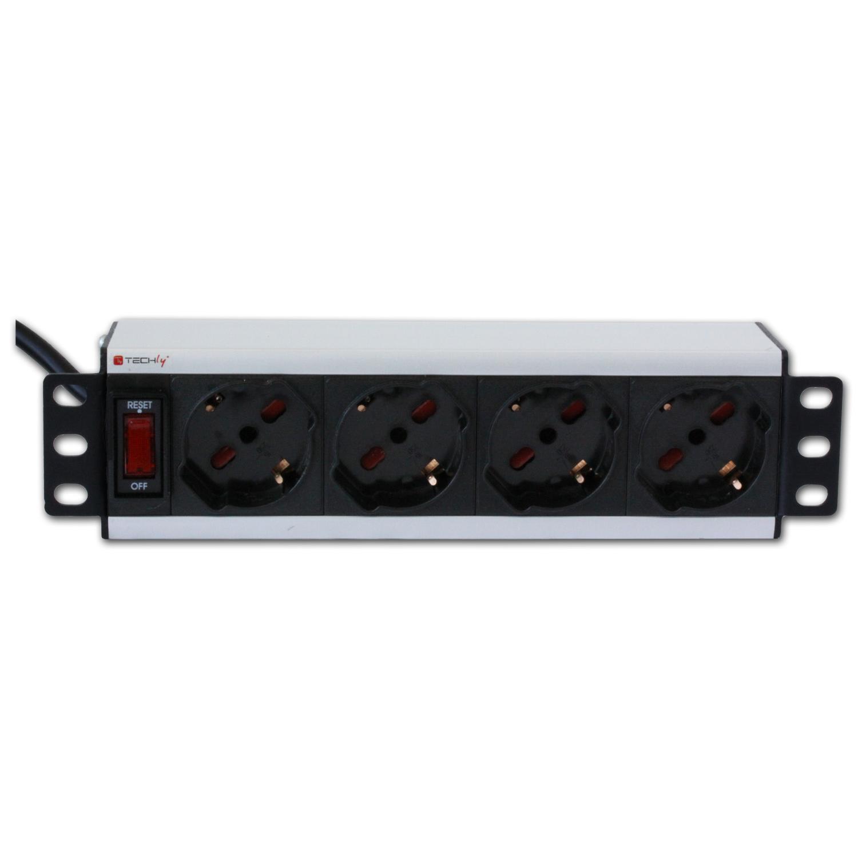 Multipresa universale 4 posti rack 10'' con interruttore