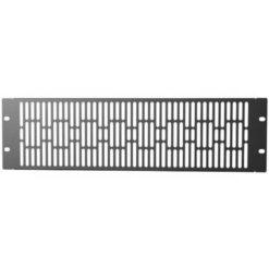 Pannello di Chiusura Ventilato 3U Nero per Rack Audio Video