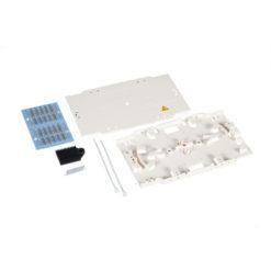 Sistema completo con vassoio portagiunti per connessioni fibra ottica a crimpare