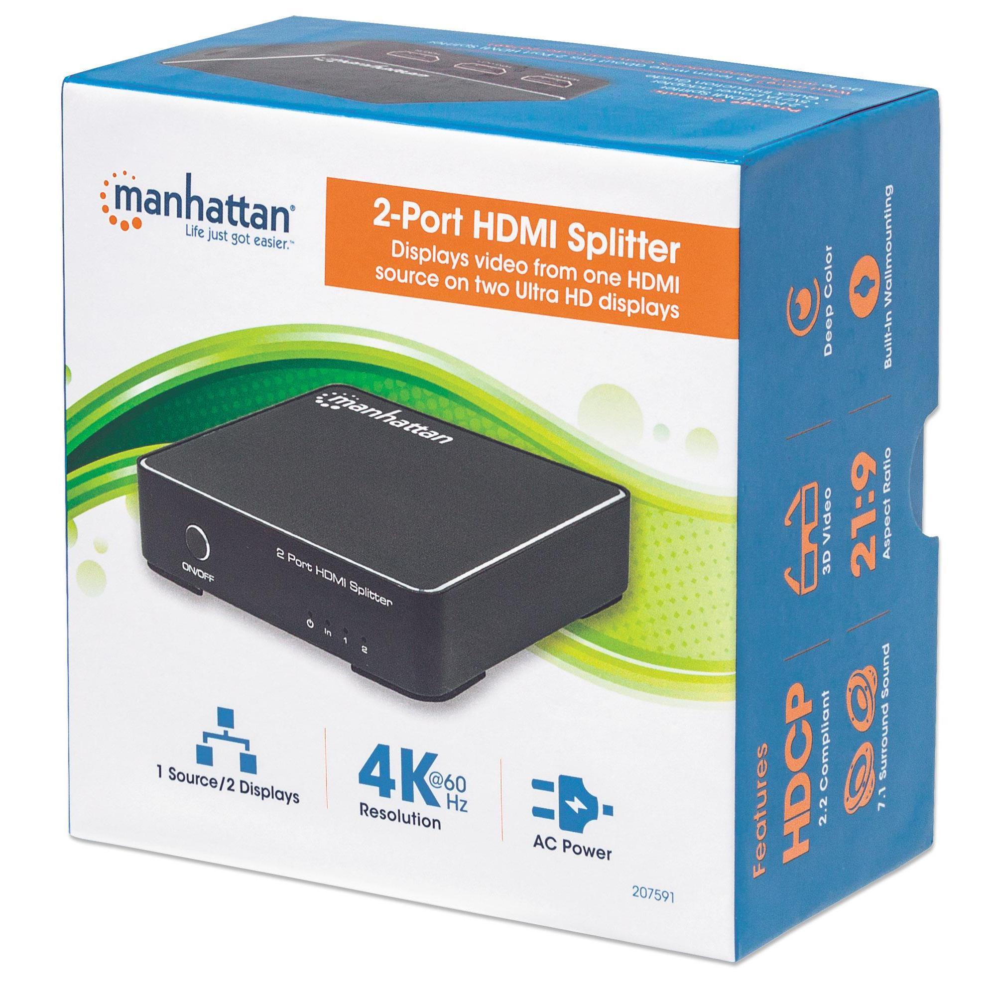 Splitter HDMI 2.0 4K UHD 3D 2 vie