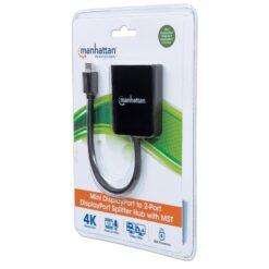 Splitter Hub Mini DisplayPort a 2 porte DisplayPort con MST