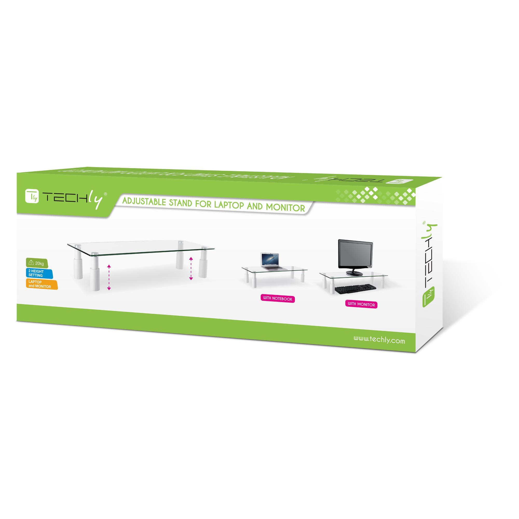 Stand da Scrivania in Vetro per Monitor/Laptop