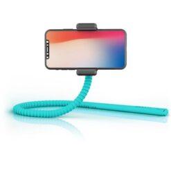 Supporto Smartphone Flessibile Universale Bluetooth Turchese