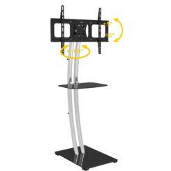Supporto a Pavimento Base Rettangolare e Mensola per TV LCD/LED 32-70''