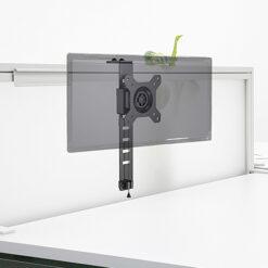 Supporto monitor 13-27'' per montaggio su pannelli divisori ufficio