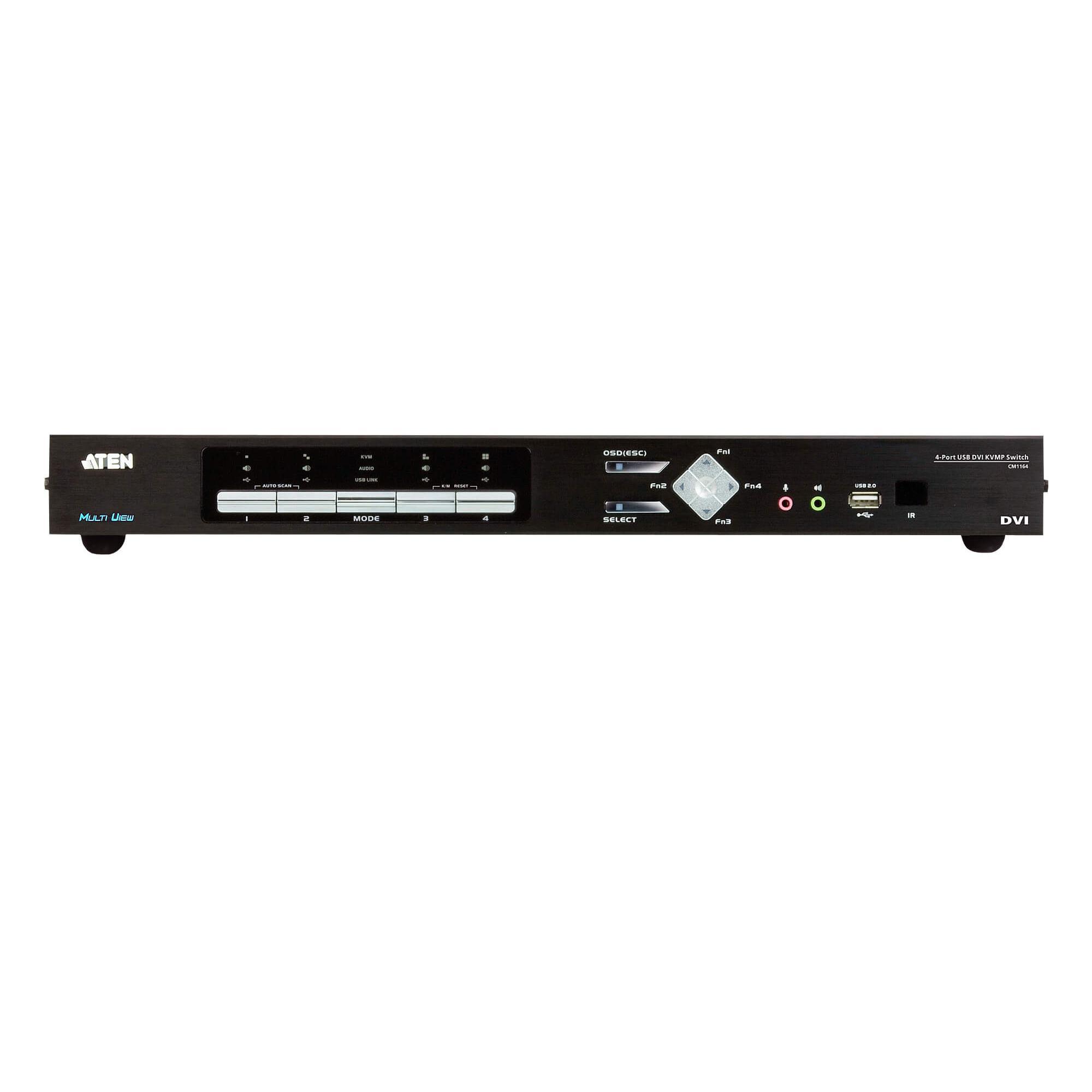 Switch KVMP Multi-Visualizzazione USB DVI a 4 porte, CM1164A