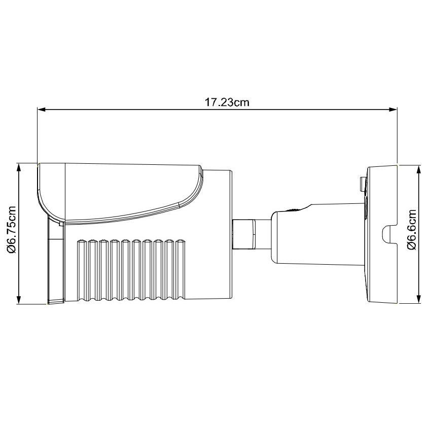 Telecamera IP POE IR 2MP da Soffitto Parete IP66 H.265, DGM1105QS