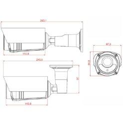 Telecamera IP POE IR Varifocale 2MP da Soffitto IP66, DGM1306