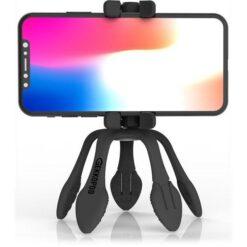 Treppiedi Flessibile con Telecomando Bluetooth Nero