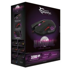 Mouse Gaming USB 3200dpi 6 Tasti Nero Hannibal GM-1602