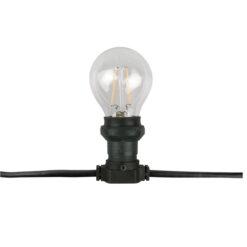Belt Light E27, Black cable IP44, 10m, senza lampade
