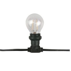 Belt Light E27, Black cable IP44, 20m, senza lampade