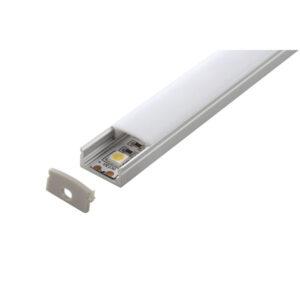 Profile led Aluminum + 2 covers + endcaps