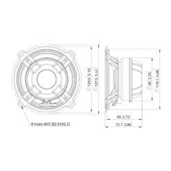 "LAVOCE CSF051.21 5"" Coaxial Ferrite-Neodymium Magnet Steel Basket Driver"