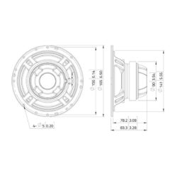 "LAVOCE CSF061.21 6.5"" Coaxial Ferrite-Neodymium Magnet Steel Basket Driver"